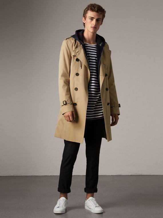 The Kensington – Long Trench Coat in Honey