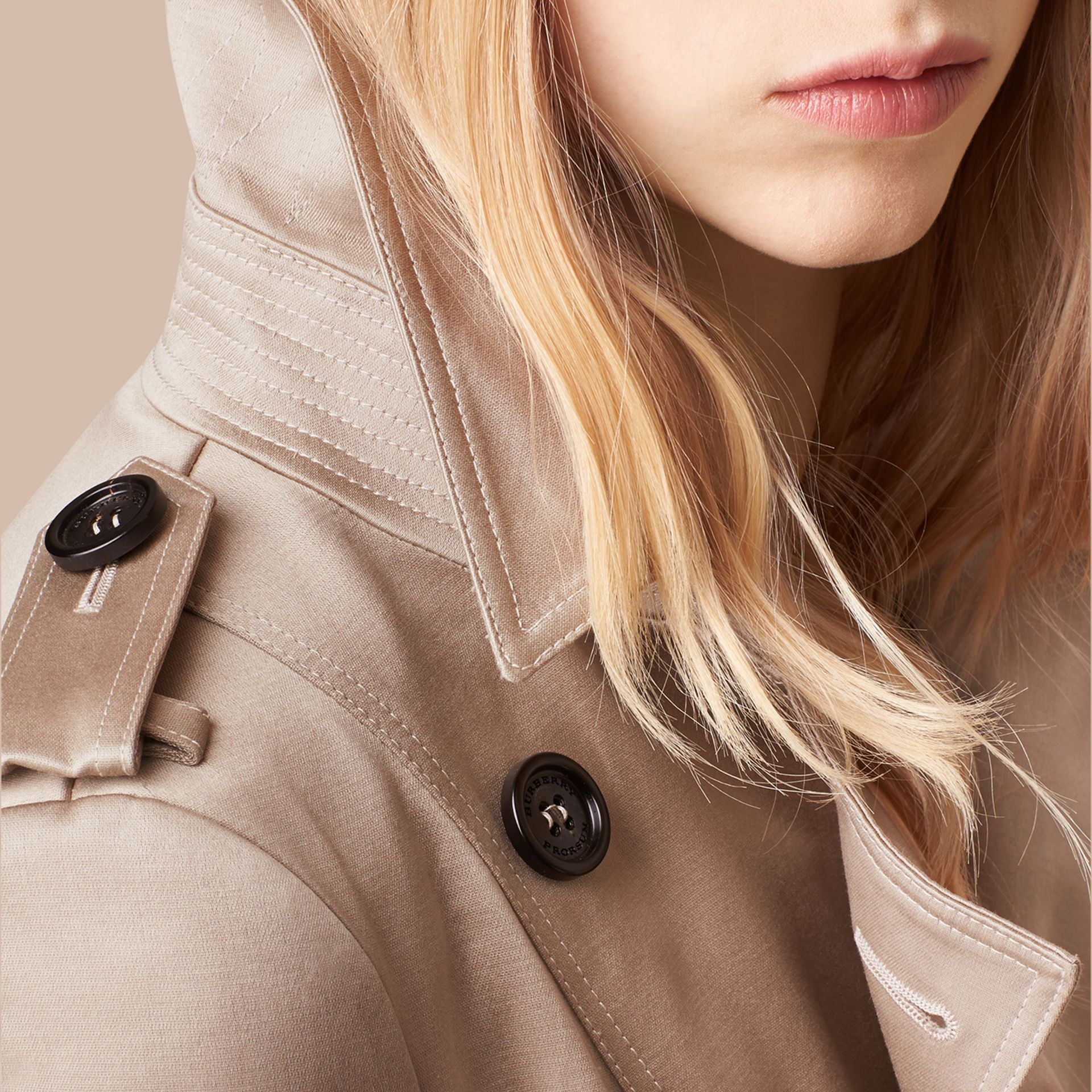 Trench Cotton Sateen Trench Coat  - gallery image 2