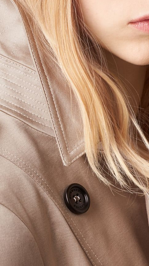 Trench Cotton Sateen Trench Coat  - Image 2