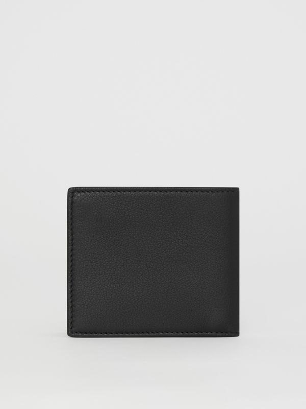 Embossed Crest Leather International Bifold Wallet in Black - Men | Burberry Canada - cell image 2