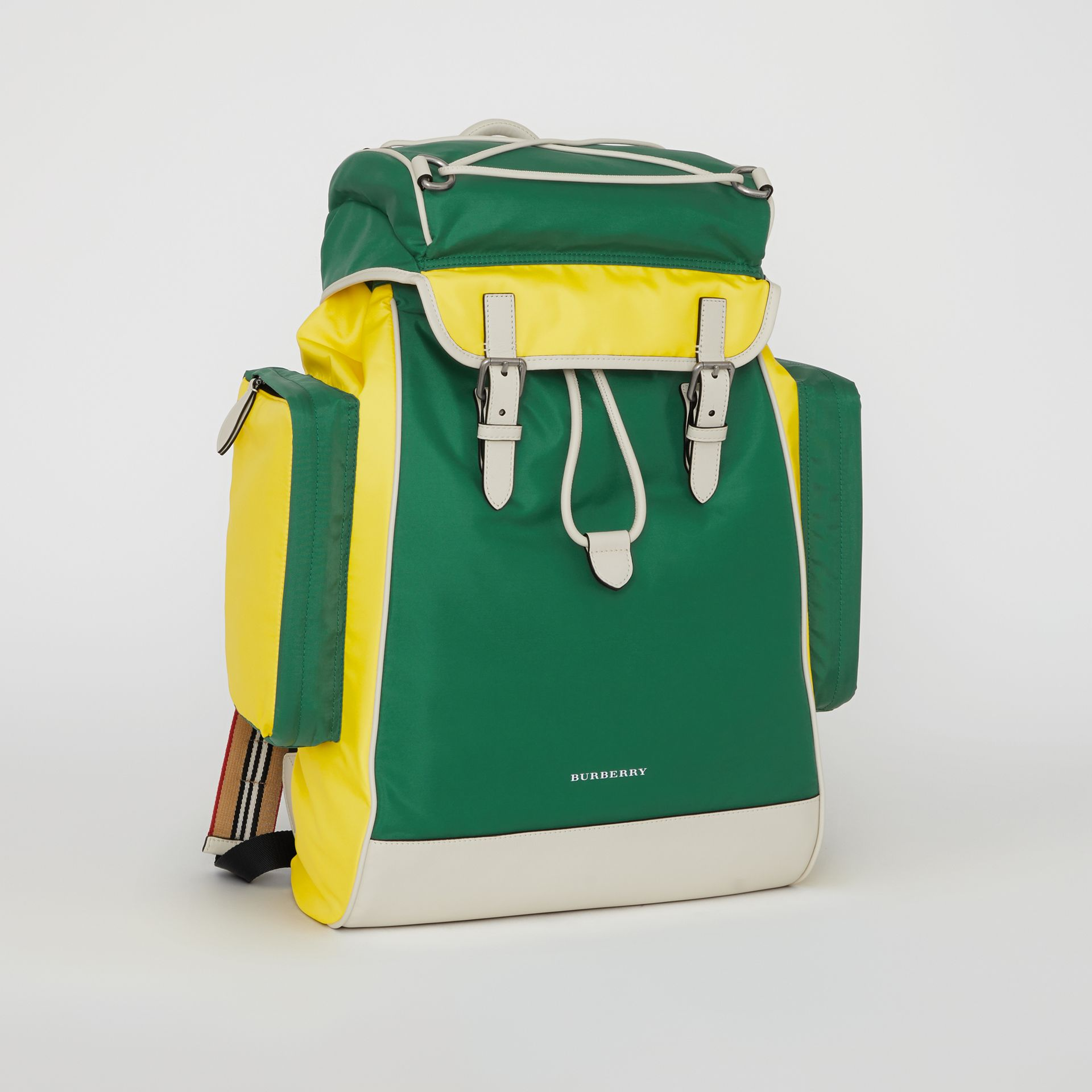 Tri-tone Nylon and Leather Backpack in Pine Green - Men | Burberry Canada - gallery image 4