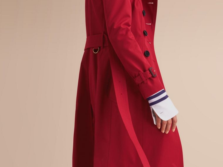 The Chelsea - Trench coat Heritage extra lungo (Rosso Parata) - Donna | Burberry - cell image 4