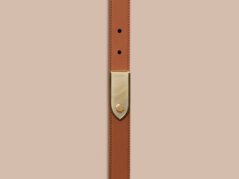 Light toffee Plaque Buckle Leather Belt Light Toffee - cell image 1