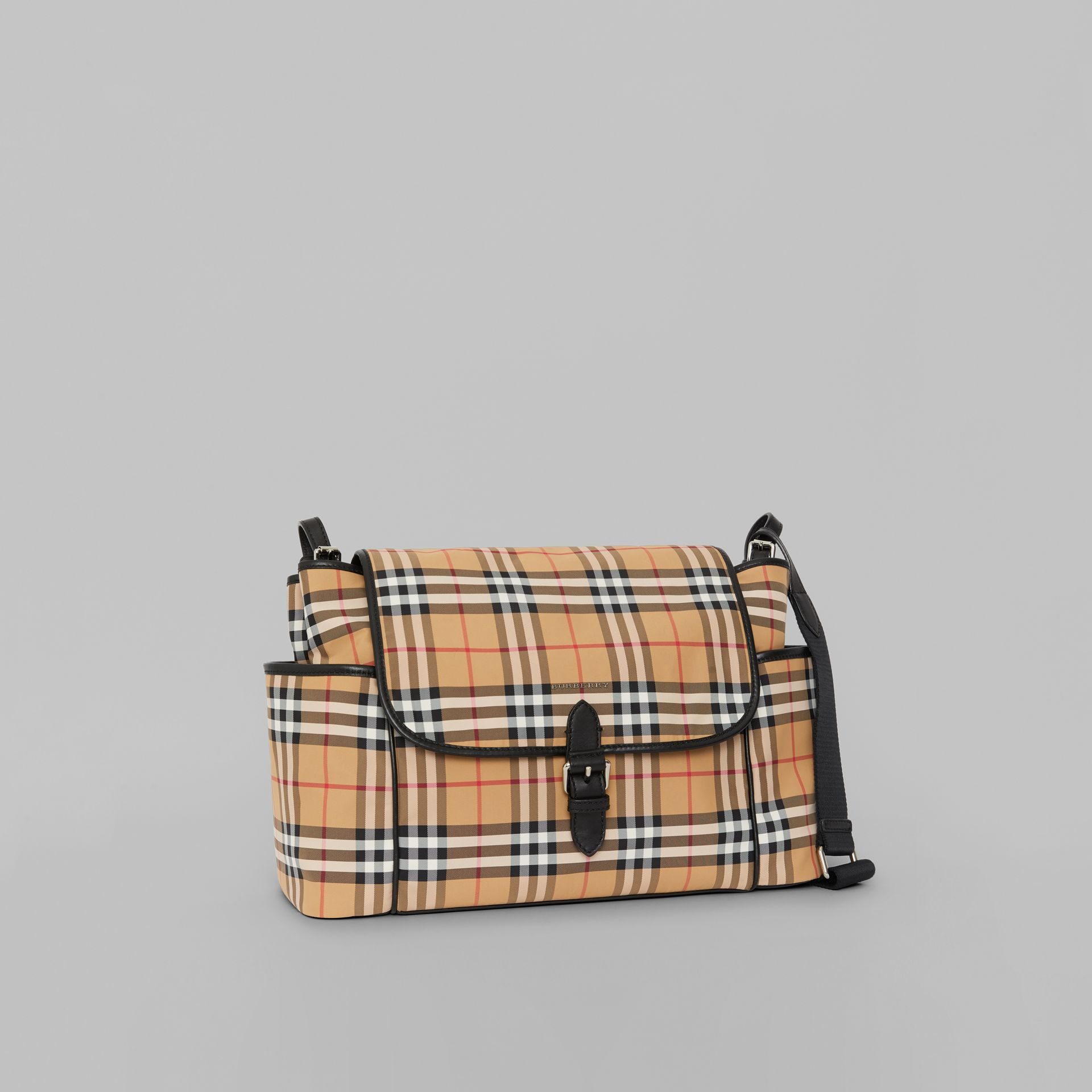 Vintage Check Baby Changing Shoulder Bag in Antique Yellow/black - Children | Burberry Australia - gallery image 4