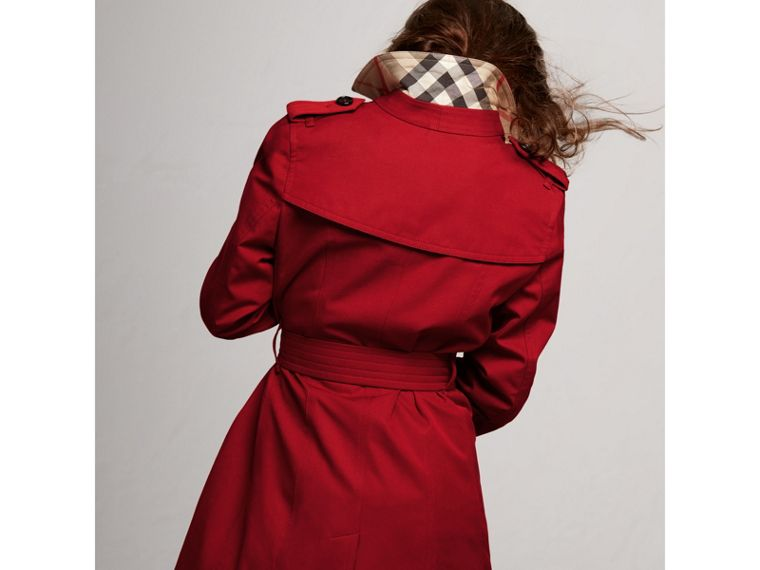 The Sandringham Trench Coat in Parade Red - Girl | Burberry - cell image 4