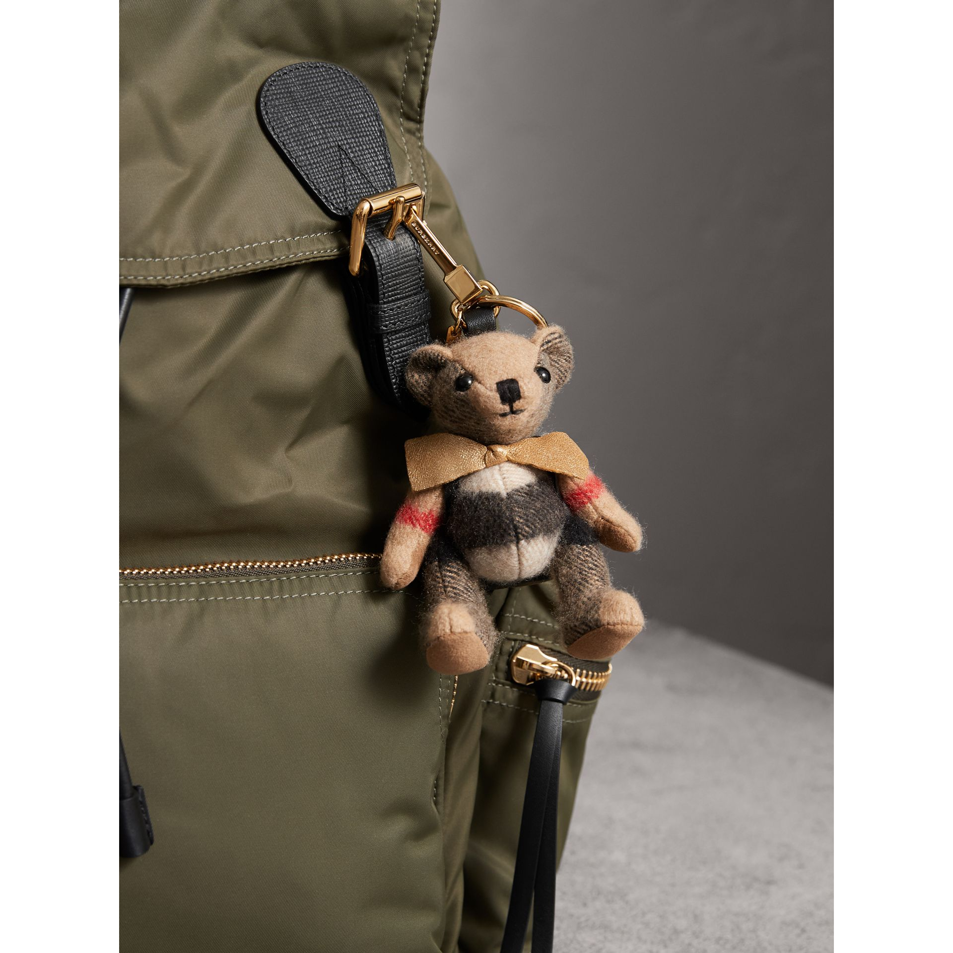 Thomas Bear Charm with Rucksack in Camel | Burberry United Kingdom - gallery image 3