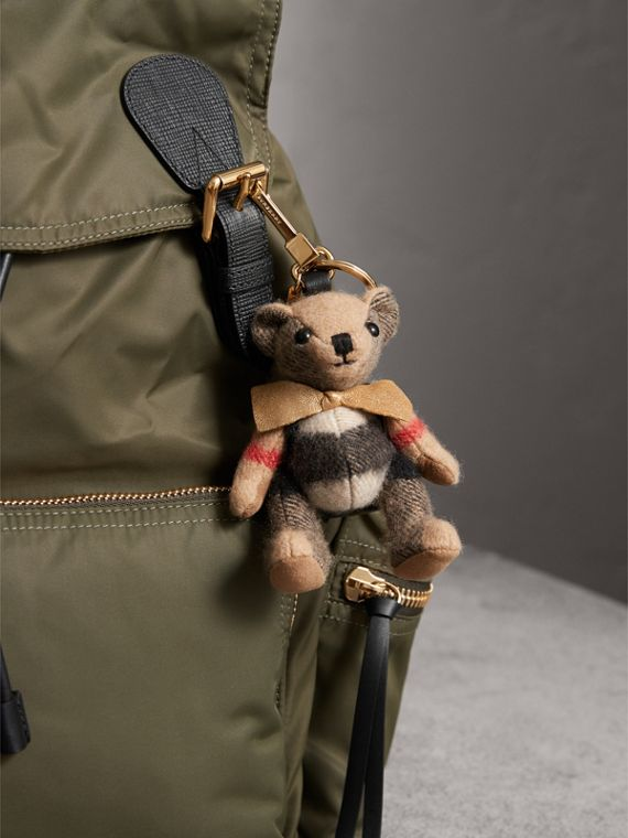 Thomas Bear Charm with Rucksack in Camel | Burberry United Kingdom - cell image 2