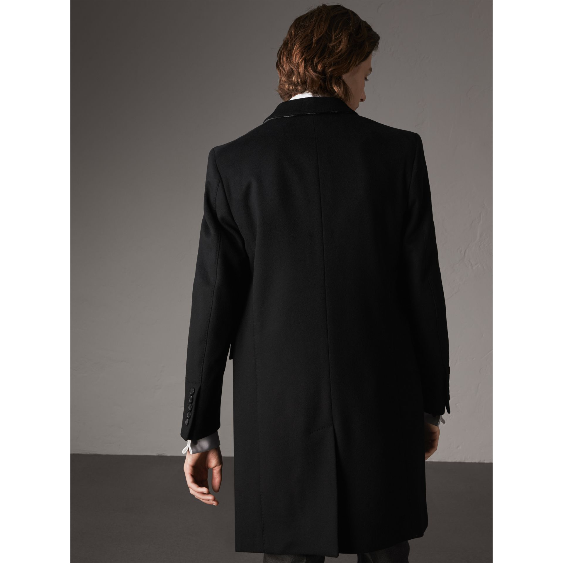 Wool Cashmere Tailored Coat in Black - Men | Burberry - gallery image 3