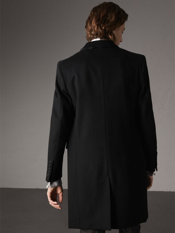 Wool Cashmere Tailored Coat in Black - Men | Burberry Canada - cell image 2