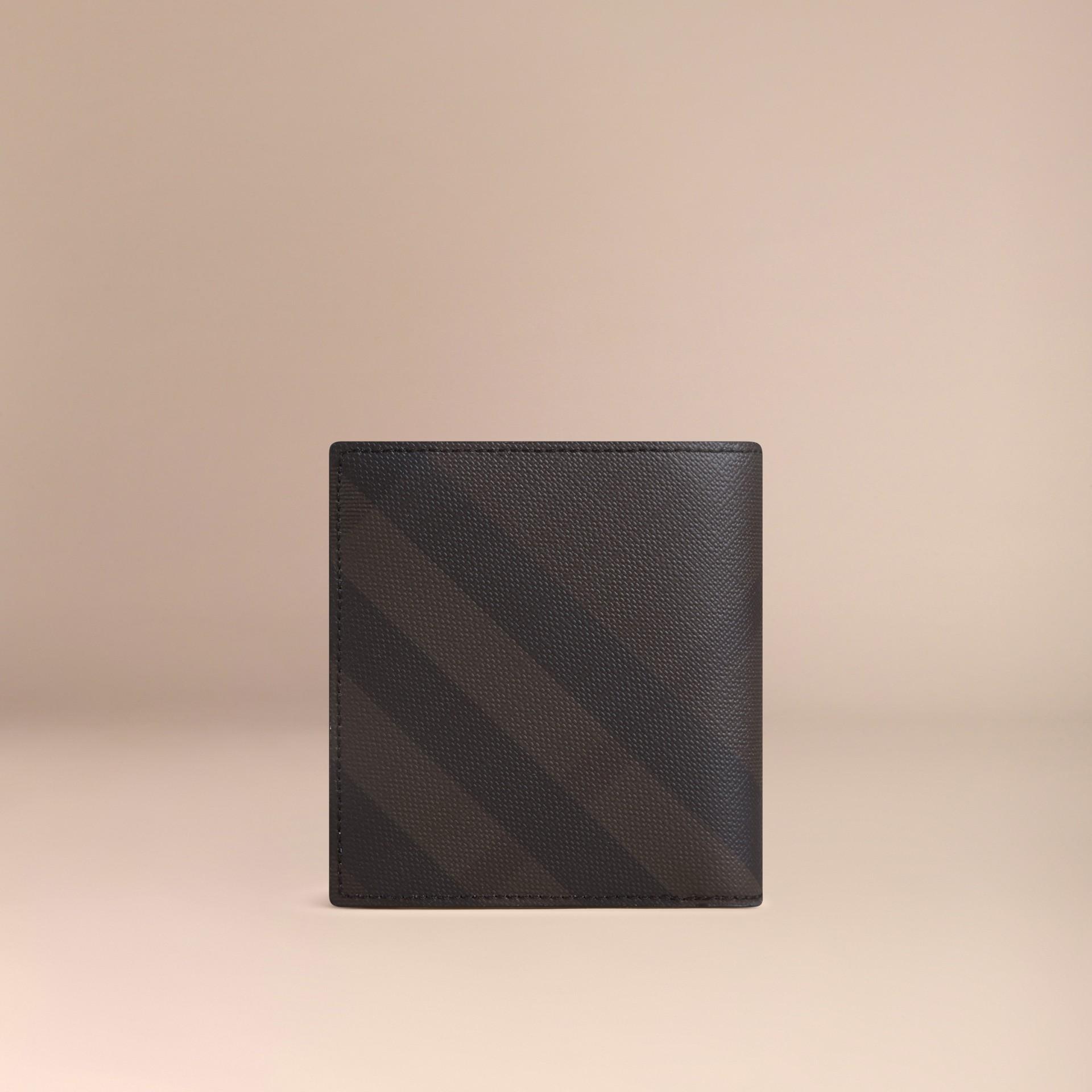 초콜릿/블랙 스모크 체크 아이디 지갑 초콜릿/블랙 - 갤러리 이미지 3