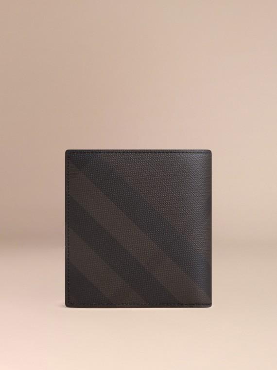 초콜릿/블랙 스모크 체크 아이디 지갑 초콜릿/블랙 - cell image 2