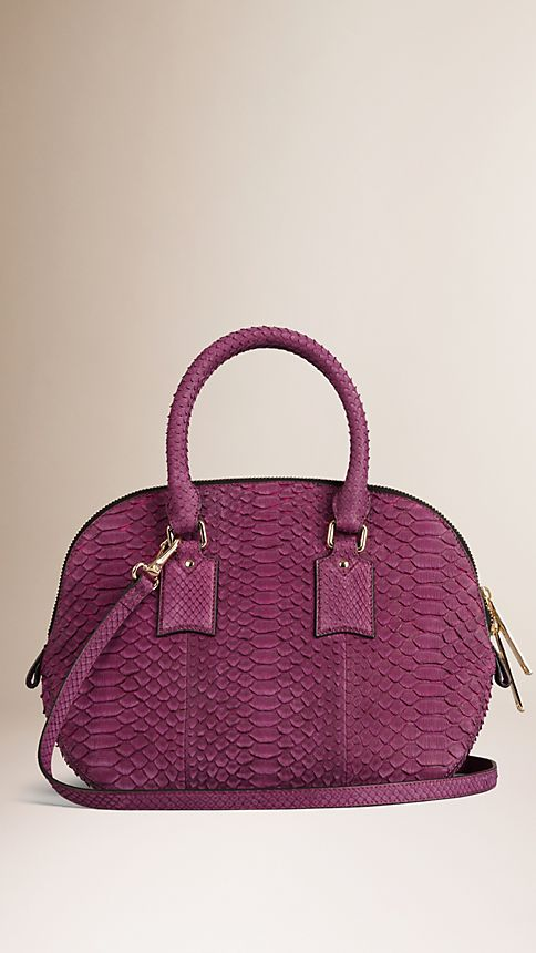 Damson magenta The Small Orchard in Nubuck Python - Image 3
