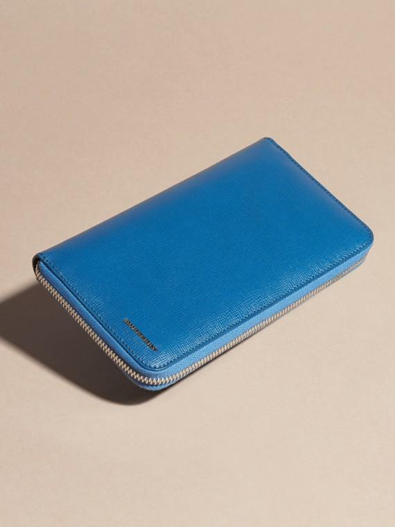 Bleu minéral Portefeuille zippé en cuir London - cell image 3