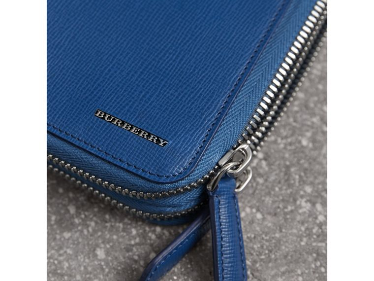 London Leather Travel Wallet in Deep Blue - Men | Burberry - cell image 1