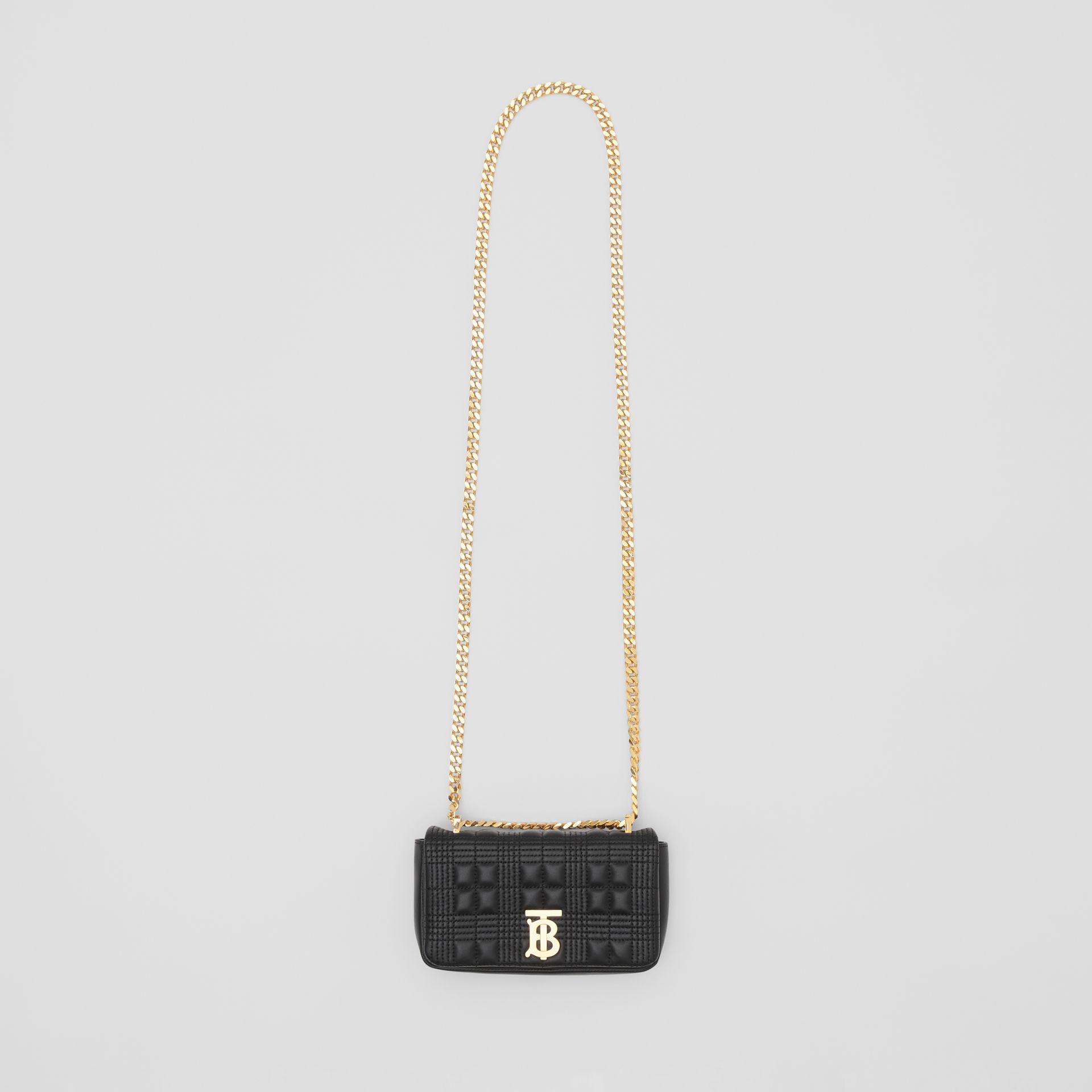 Mini Quilted Lambskin Lola Bag in Black - Women | Burberry - gallery image 2