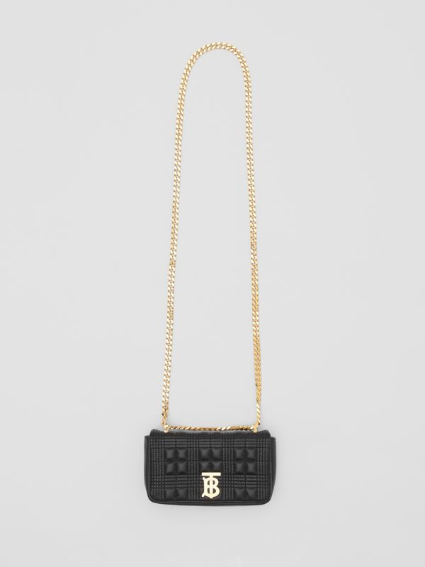 Mini Quilted Lambskin Lola Bag in Black - Women | Burberry - cell image 2