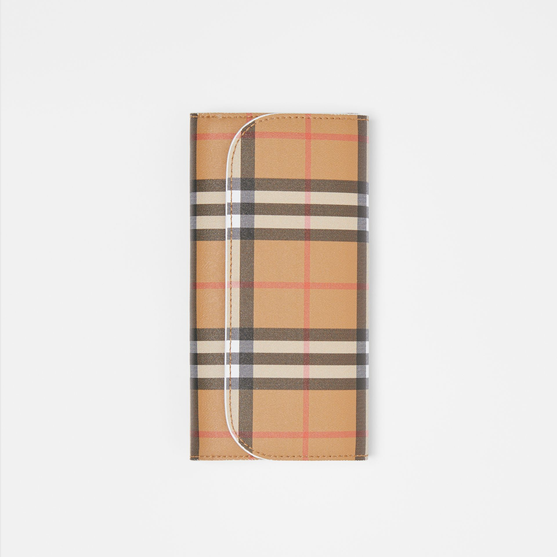 Vintage Check and Leather Continental Wallet in Chalk White - Women | Burberry United Kingdom - gallery image 3