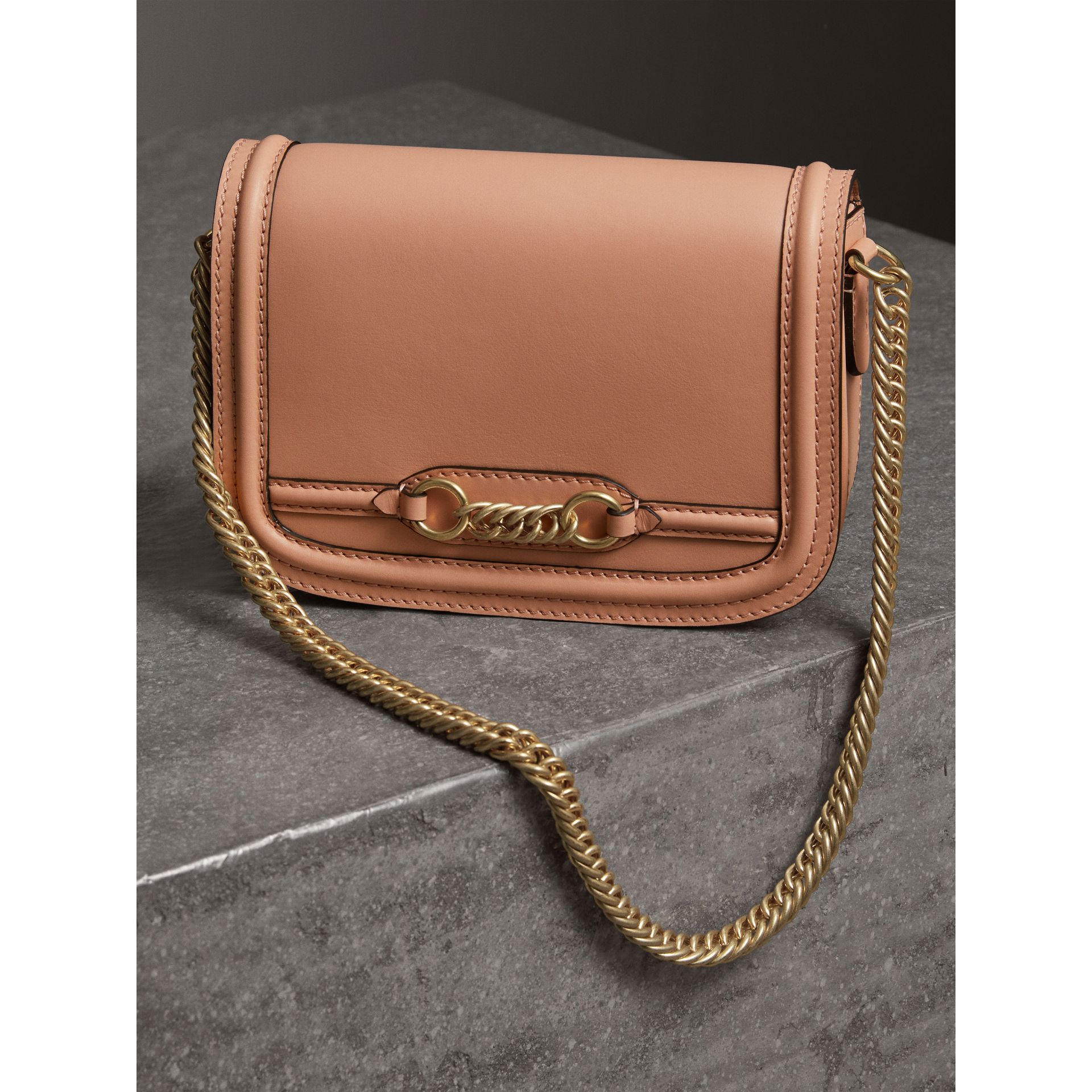 The Leather Link Bag in Peach - Women | Burberry United Kingdom - gallery image 5