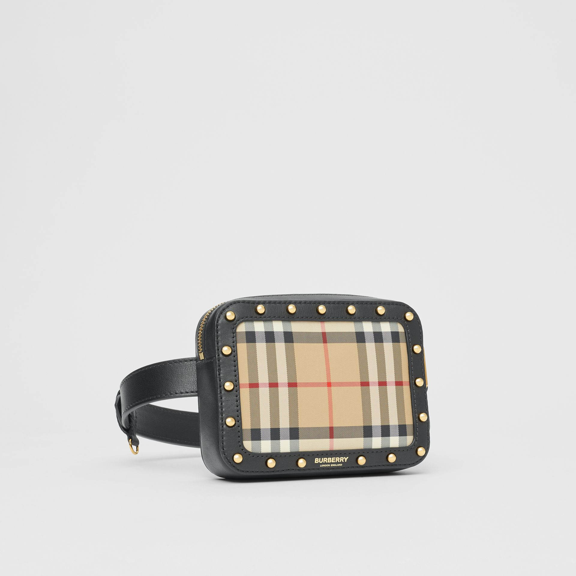 Vintage Check and Studded Leather Bum Bag in Black - Children | Burberry - gallery image 4