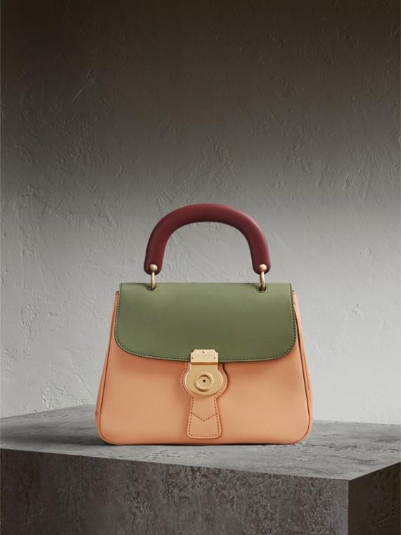La borsa con manico DK88 media Clementina Pallido/verde Muschio