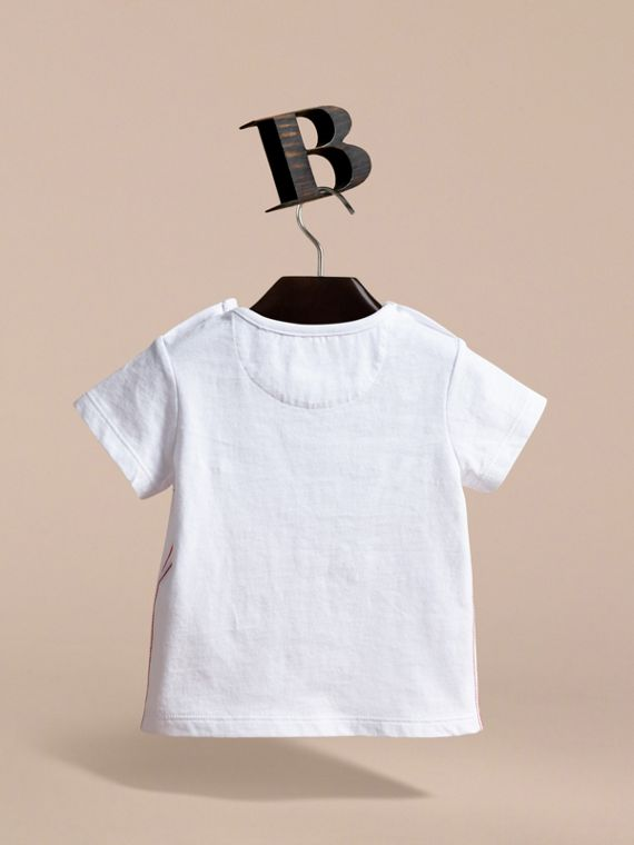 Fresh Sardines Motif Cotton T-shirt in White | Burberry - cell image 3
