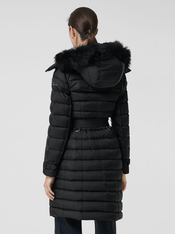 Detachable Hood Down-filled Puffer Coat in Black - Women | Burberry United States - cell image 2