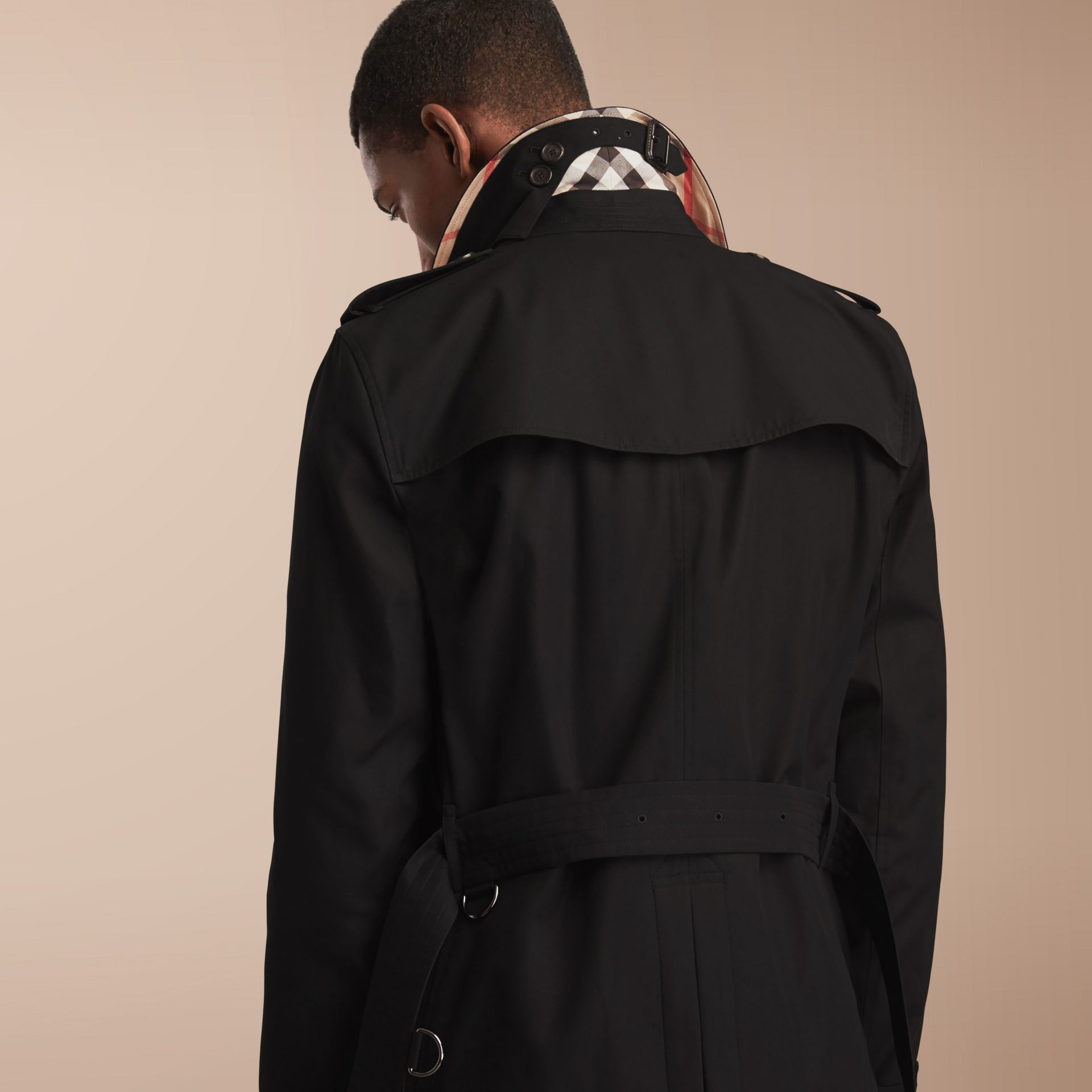The Kensington – Mid-Length Heritage Trench Coat in Black - gallery image 3