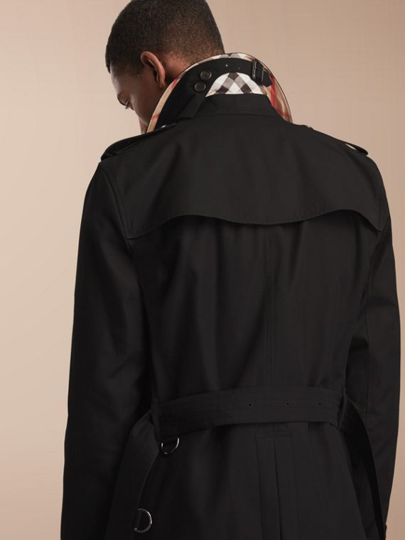 The Kensington – Mid-Length Heritage Trench Coat Black - cell image 2