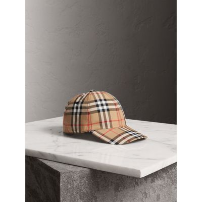 Leather-Trimmed Checked Cotton-Canvas Baseball Cap in Camel from Bloomingdale's
