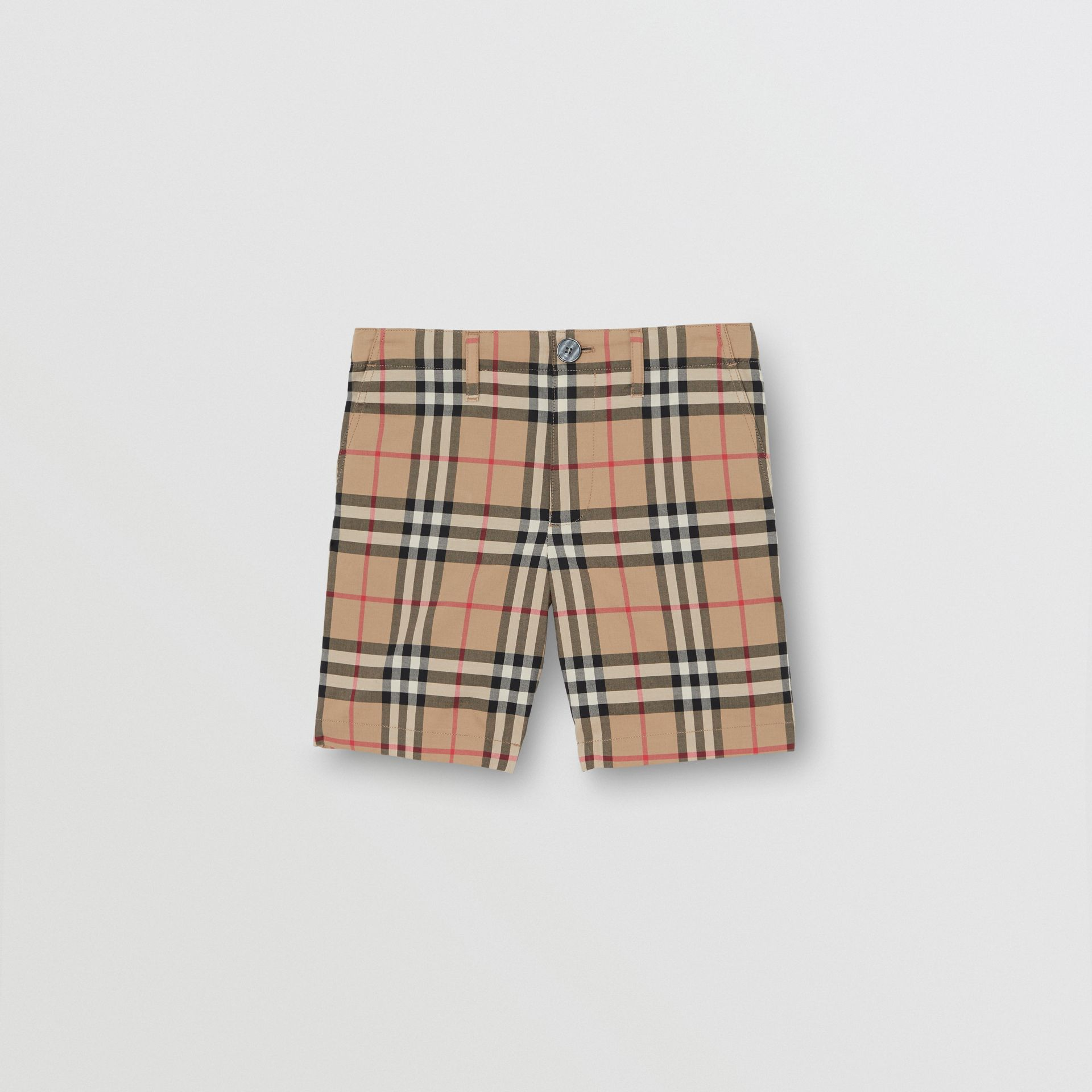 Vintage Check Cotton Tailored Shorts in Archive Beige | Burberry - gallery image 0