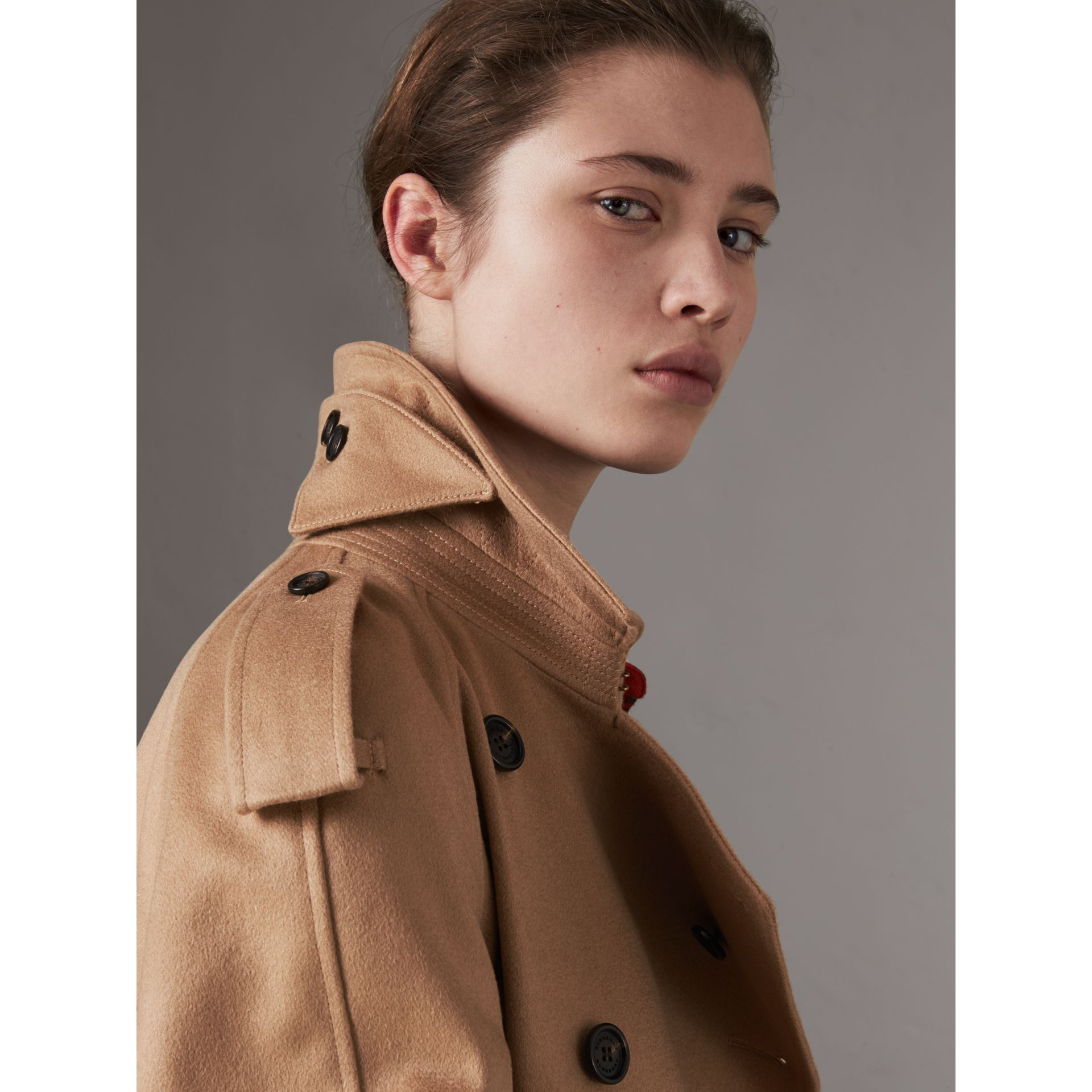 Cashmere Trench Coat in Camel - Women | Burberry - gallery image 2