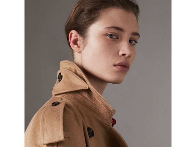 Cashmere Trench Coat in Camel - Women | Burberry United States - cell image 1