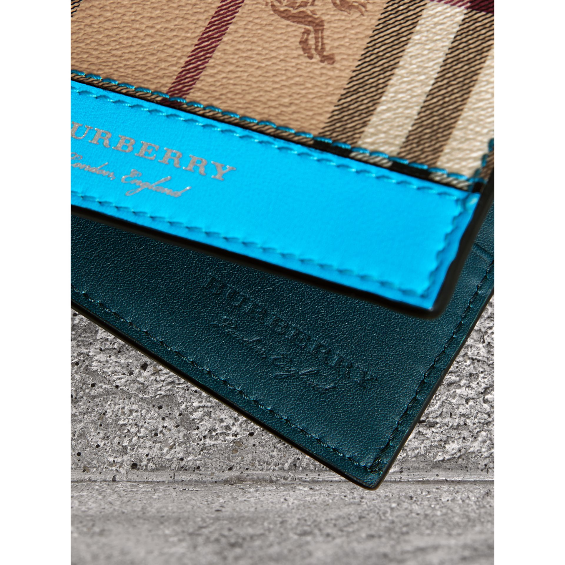 Haymarket Check International Bifold Wallet in Bright Blue - Men | Burberry - gallery image 1