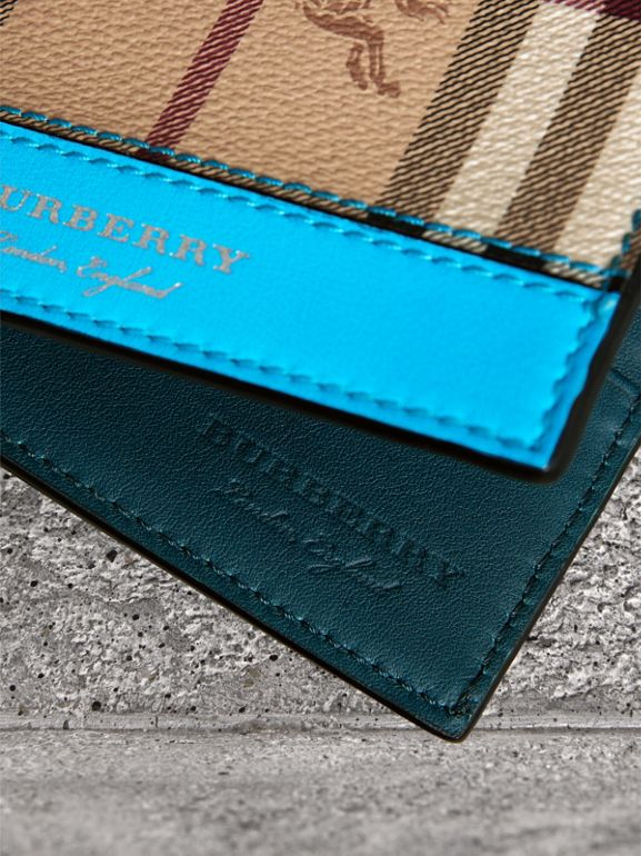 Haymarket Check International Bifold Wallet in Bright Blue - Men | Burberry - cell image 1