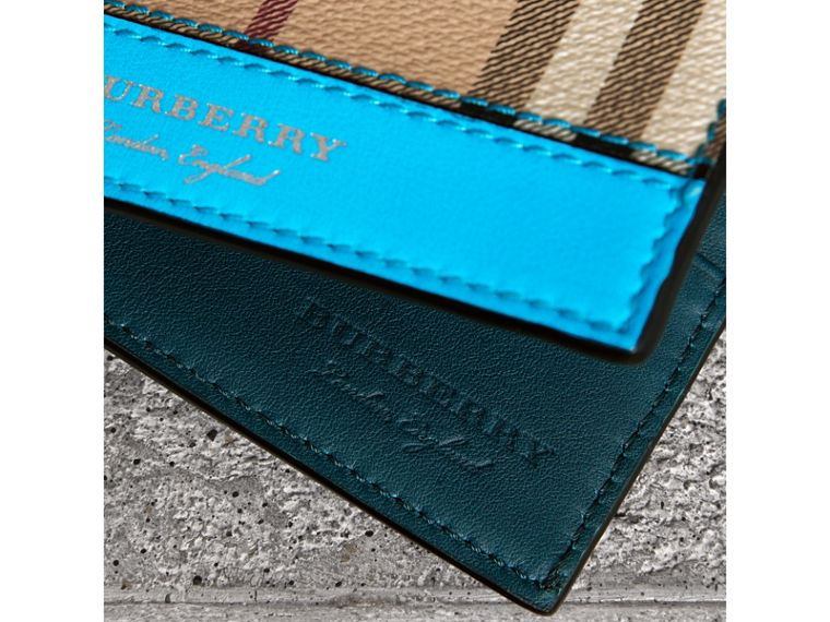 Haymarket Check International Bifold Wallet in Bright Blue - Men | Burberry Hong Kong - cell image 1