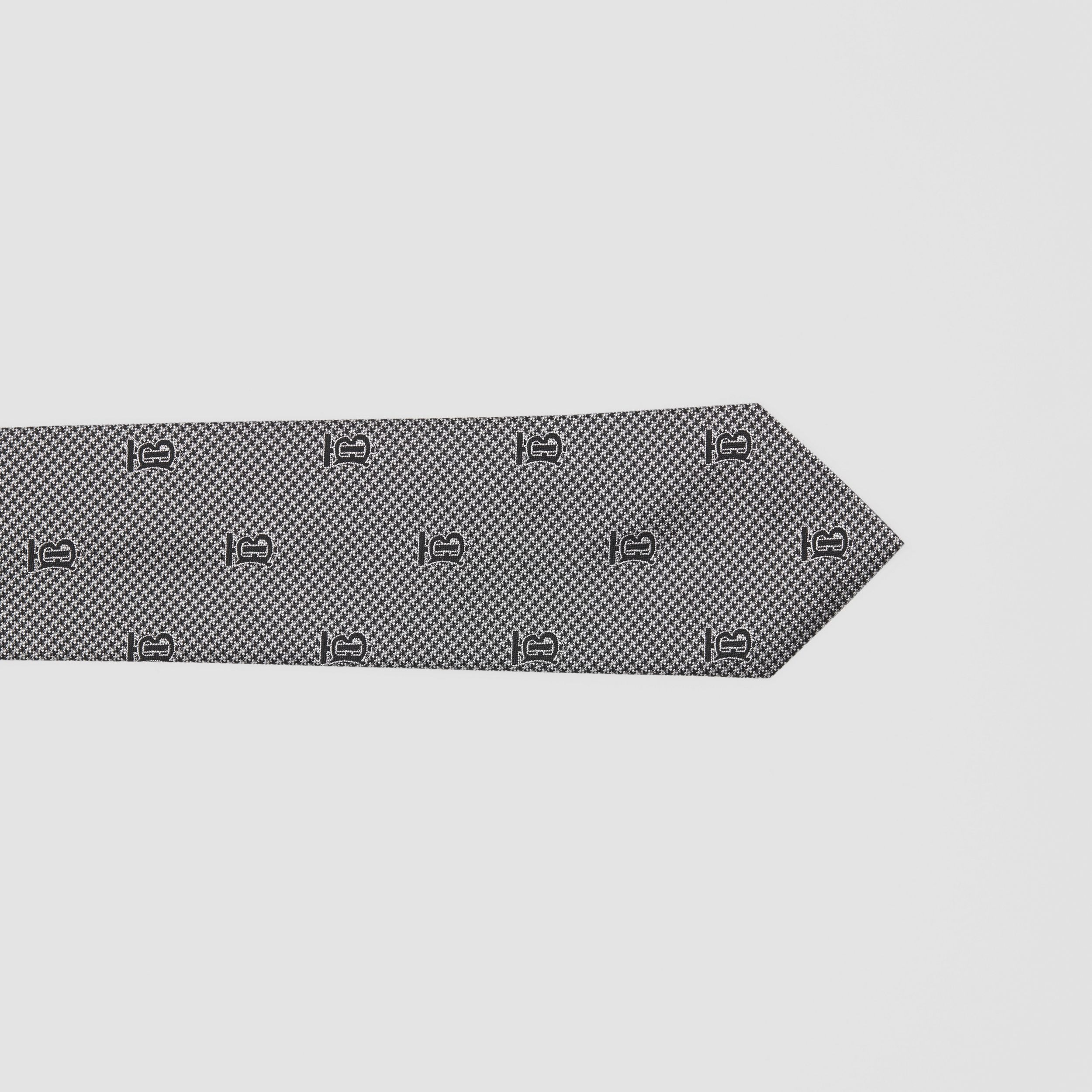 Classic Cut Puppytooth Check Silk Tie in Pearl Grey - Men | Burberry United Kingdom - 2