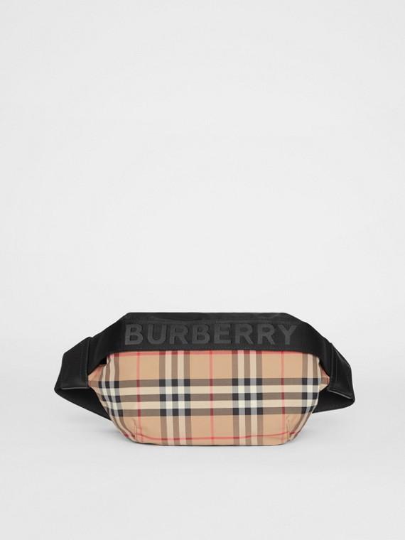 Medium Vintage Check Bum Bag in Archive Beige