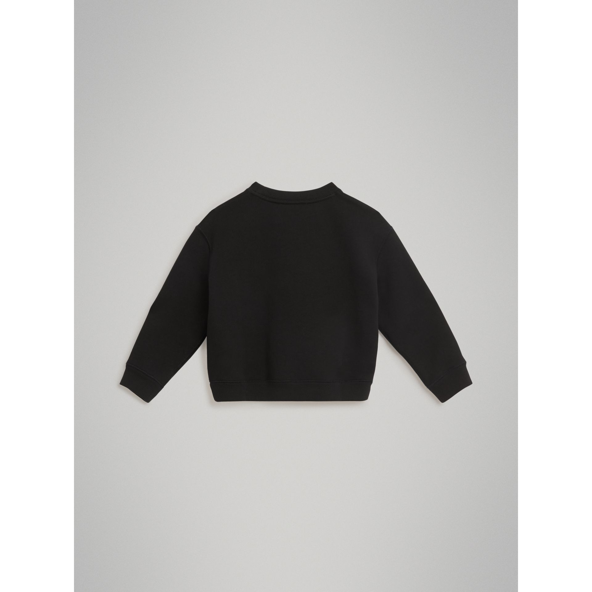 Sweat-shirt en jersey avec logo imprimé (Noir) | Burberry Canada - photo de la galerie 3