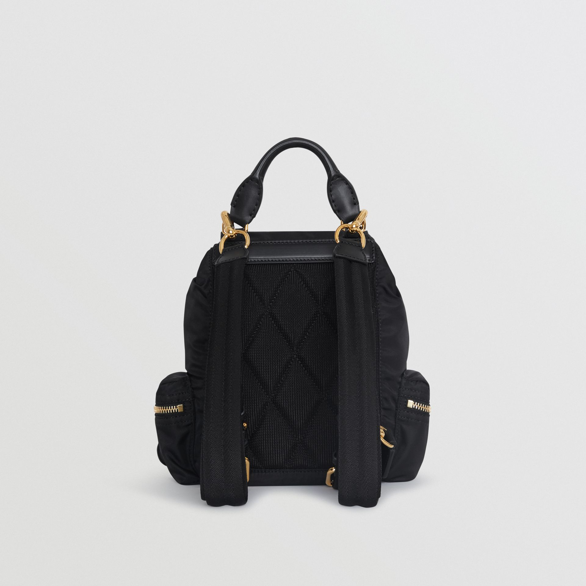 The Small Crossbody Rucksack in Nylon in Black - Women | Burberry United Kingdom - gallery image 8