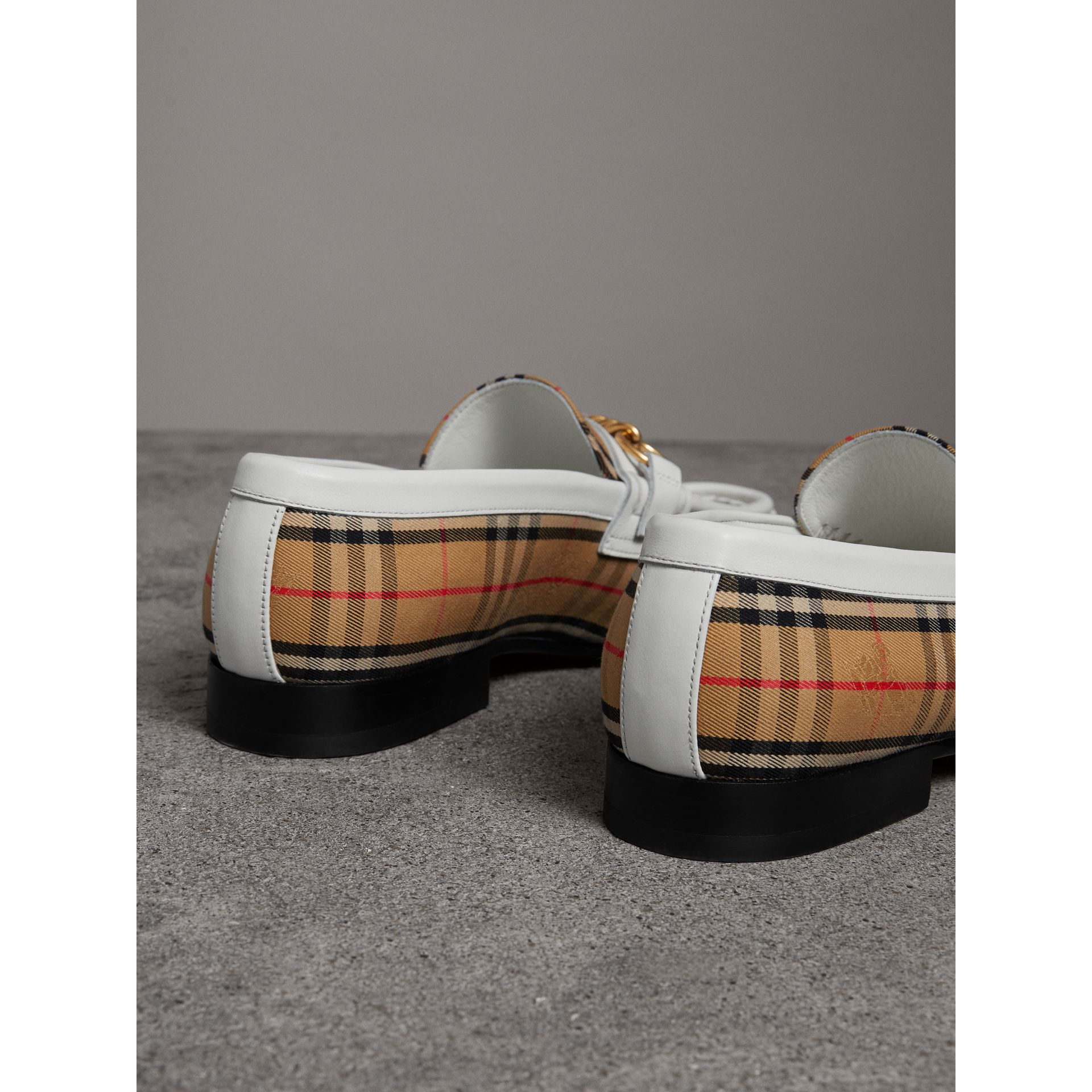 The 1983 Check Link Loafer in Off White - Women | Burberry Australia - gallery image 3