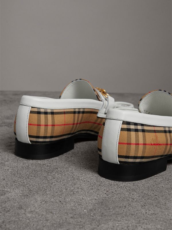 The 1983 Check Link Loafer in Off White - Women | Burberry United Kingdom - cell image 3