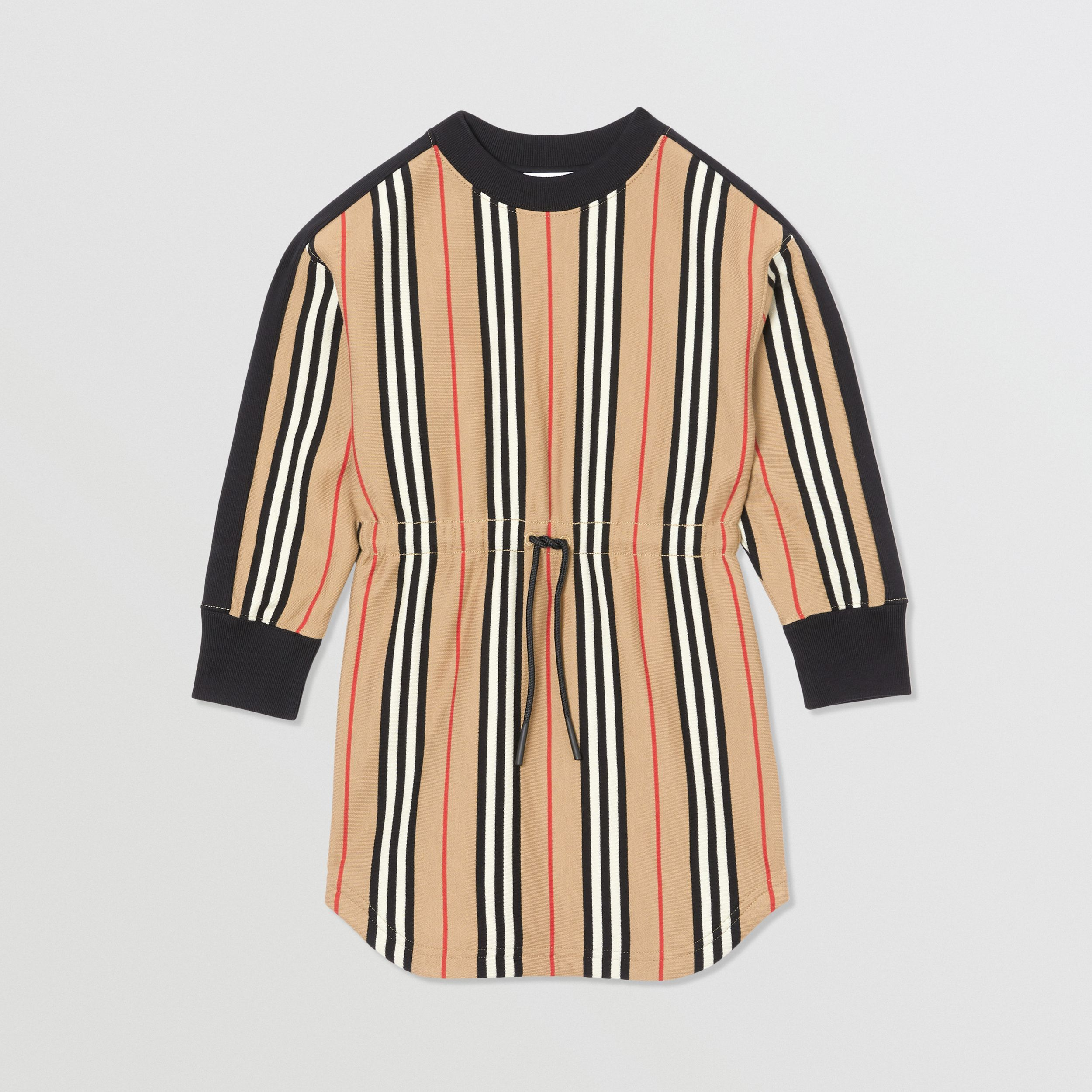 Icon Stripe Cotton Sweater Dress in Archive Beige | Burberry Canada - 1