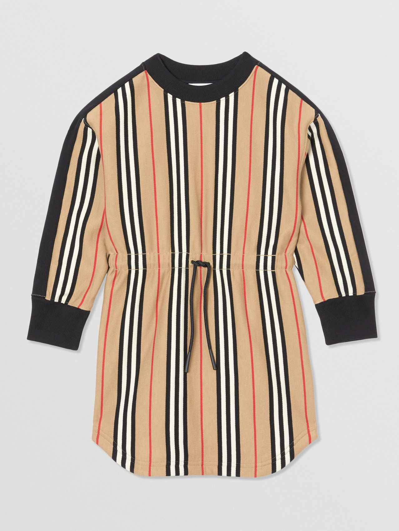 Icon Stripe Cotton Sweater Dress (Archive Beige)