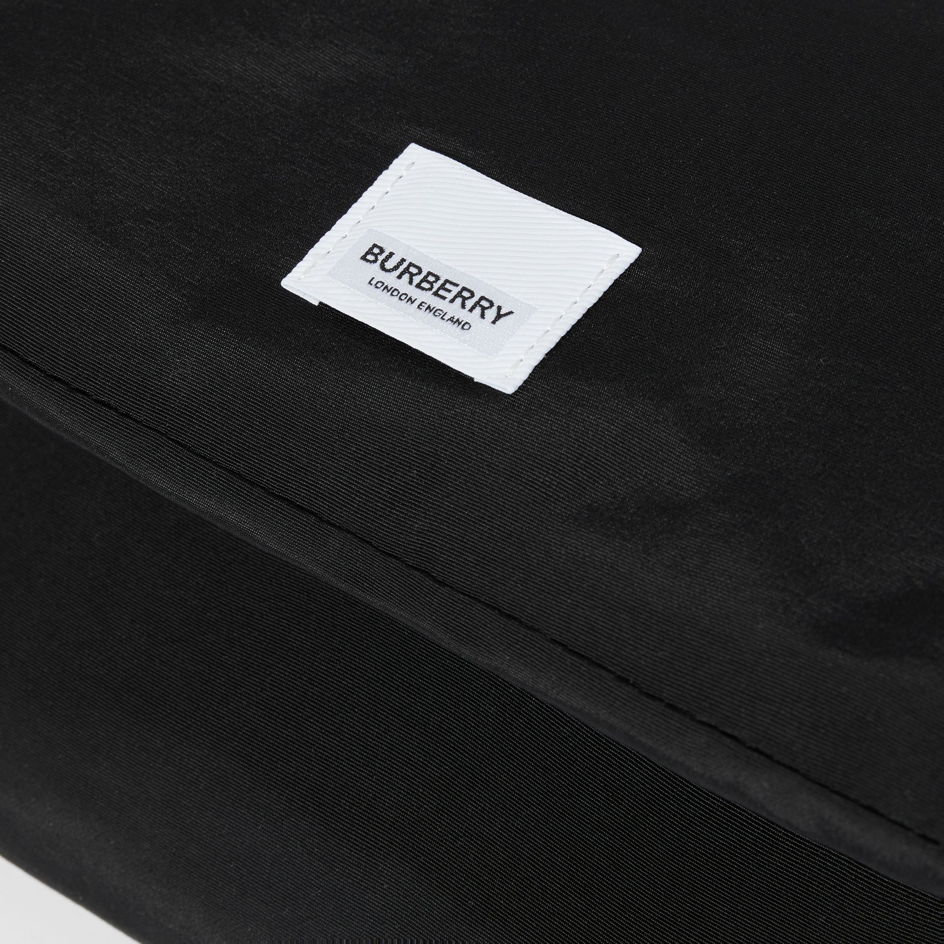 Logo Print Baby Changing Bag in Black - Children | Burberry - gallery image 6