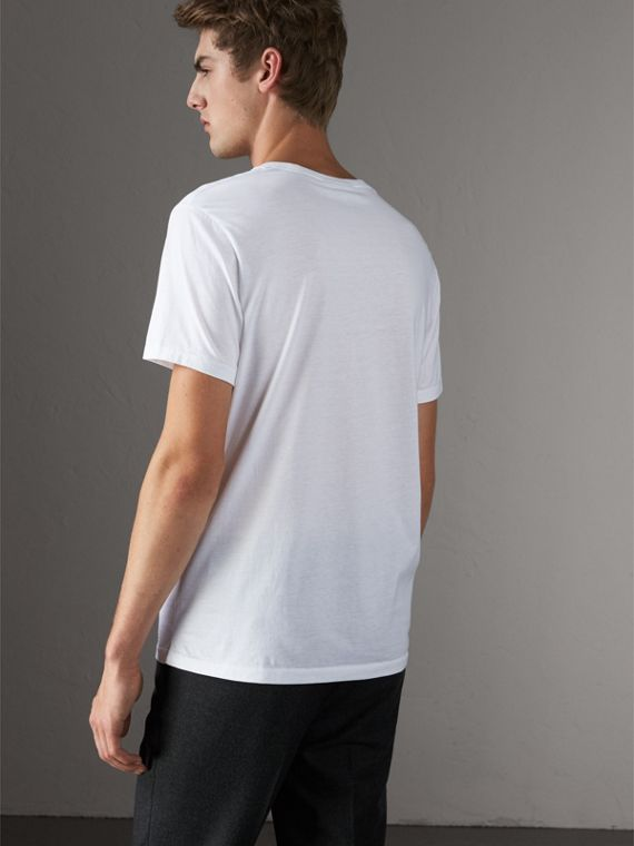 Cotton Jersey T-shirt in White - Men | Burberry - cell image 2