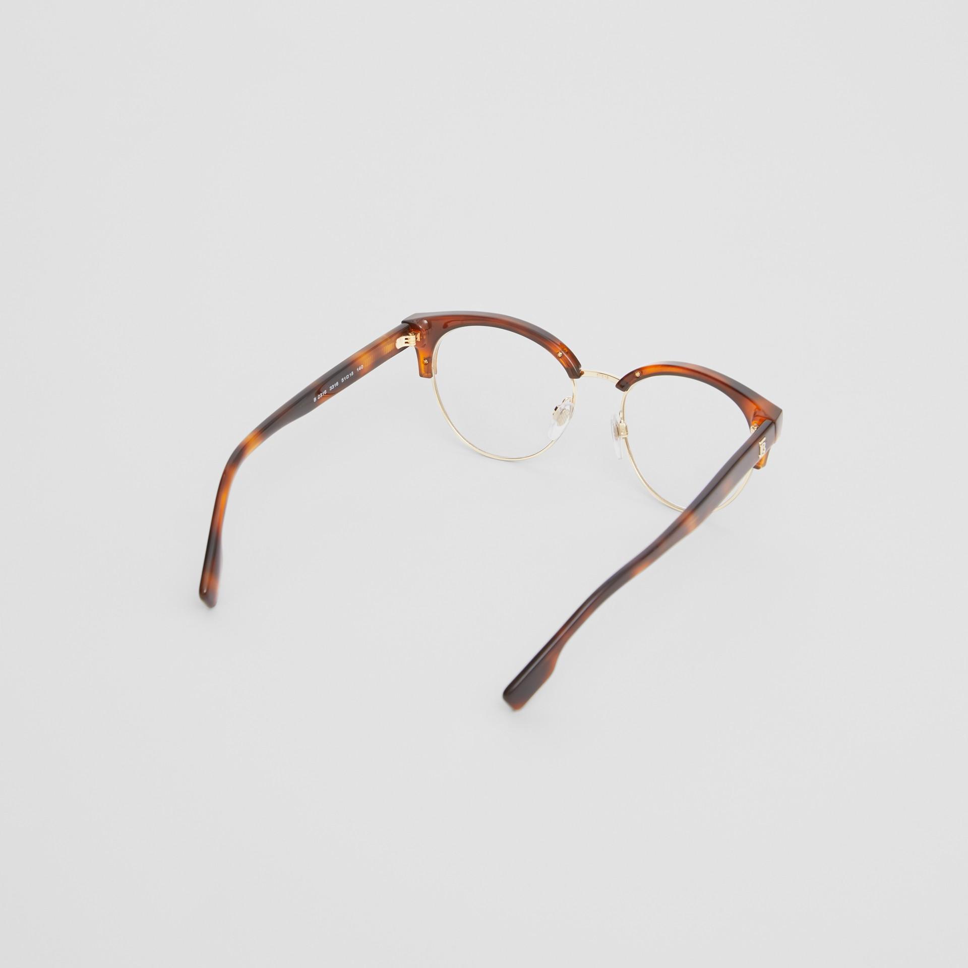 Óculos de grau com armação gatinho (Âmbar  Efeito Casco  Tartaruga) - Mulheres | Burberry - galeria de imagens 4