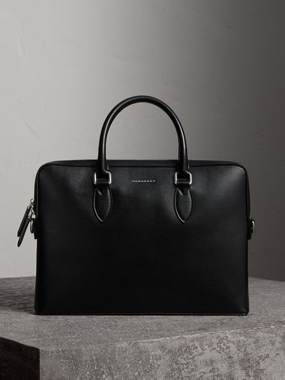 The Slim Barrow in London Leather in Black