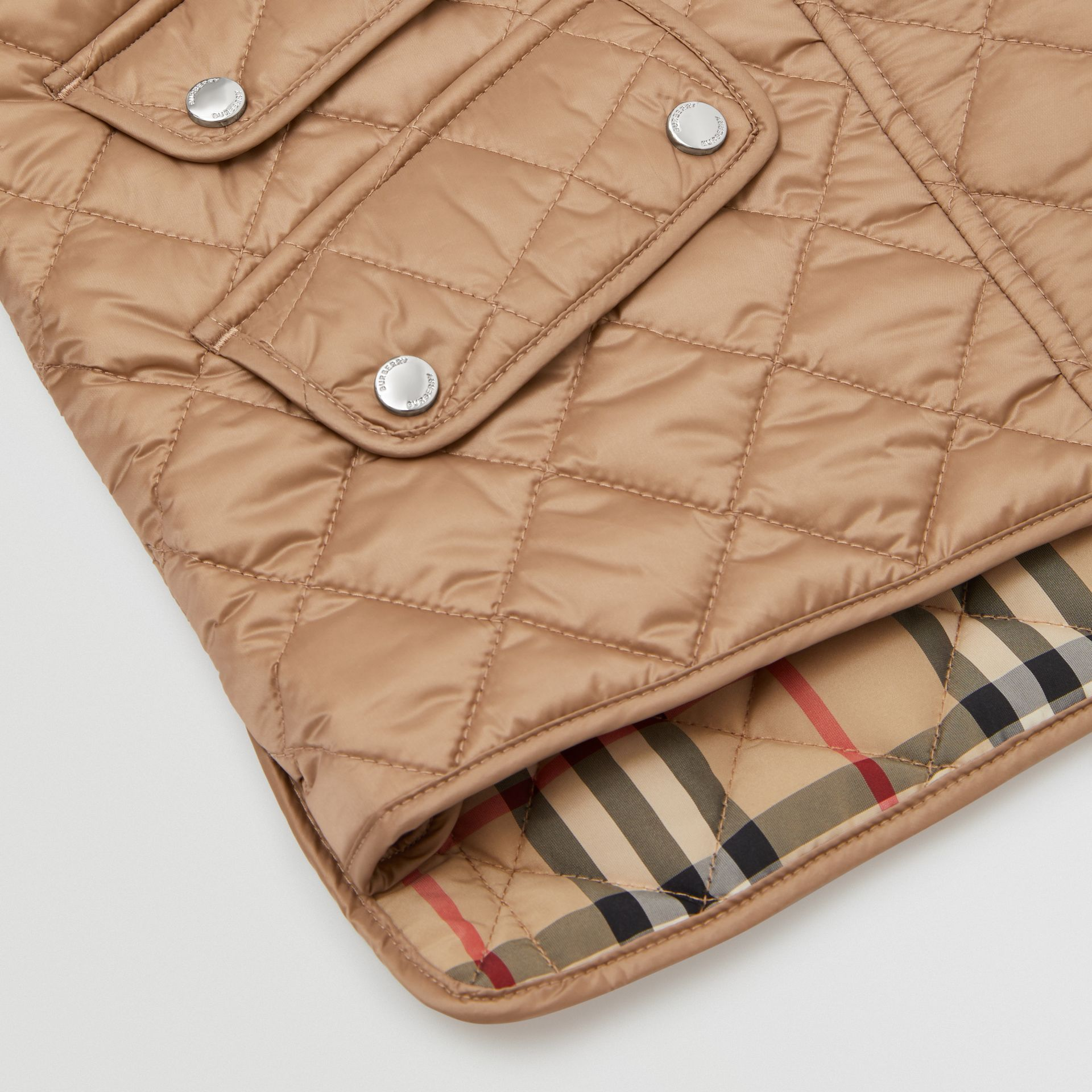 Lightweight Diamond Quilted Jacket in Honey | Burberry - gallery image 1