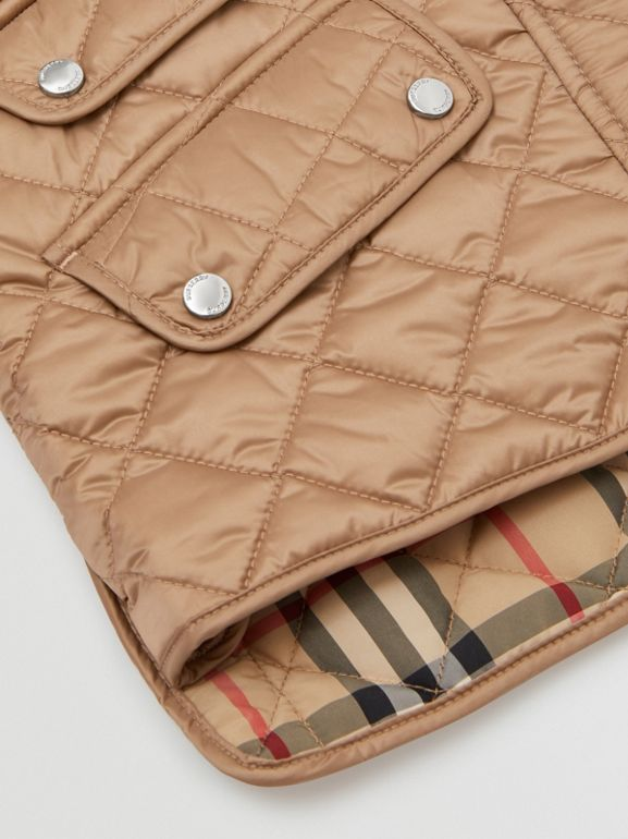 Lightweight Diamond Quilted Jacket in Honey | Burberry - cell image 1