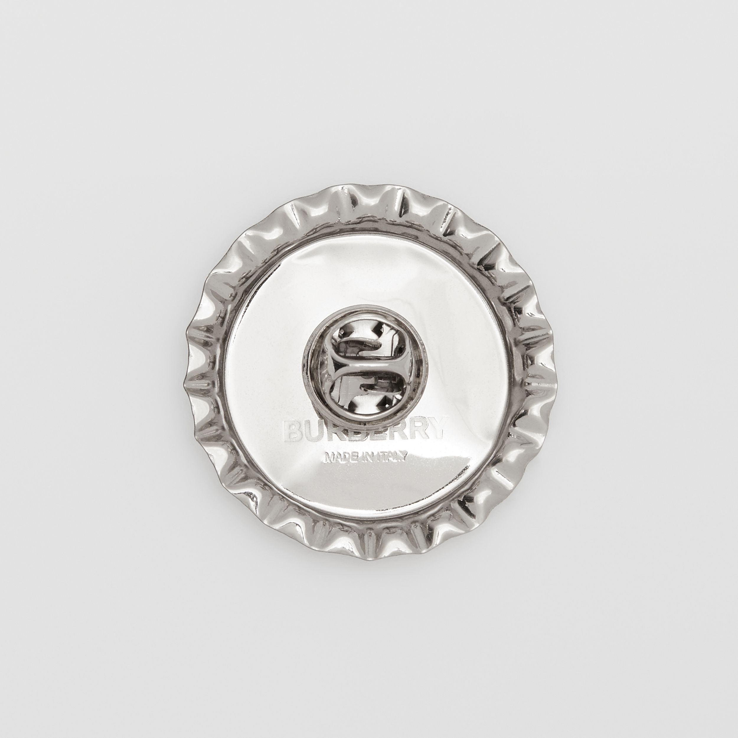 Palladium-plated Bottle Cap Brooch in Palladio | Burberry United Kingdom - 3